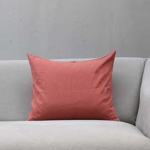 Linen Society Cushion in Raspberry color