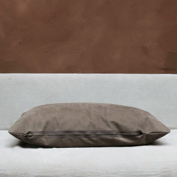 Pillow in Dark Suede - Large