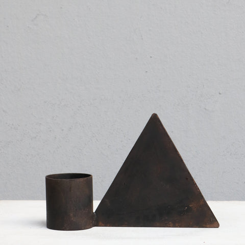 Candle holder with triangle shape