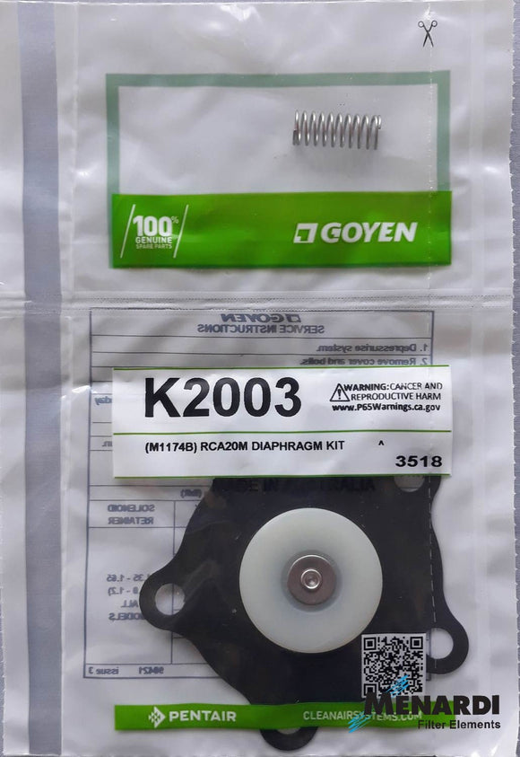 K2003 Goyen Diaphragm Replacement Kit
