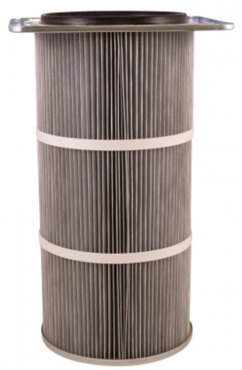 21in x 16.75in Flanged, Round 12.8in x 36in long Dust Collector Cartridge, Spunbond Polyester w/ Aluminum Coating