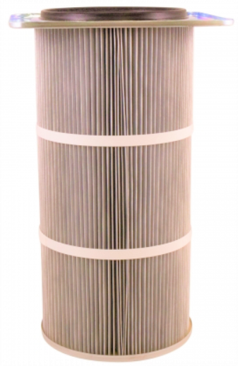 16in x 14.25in Flanged, Round 12.8in x 36in long Dust Collector Cartridge, Spunbond Polyester w/ PTFE Membrane