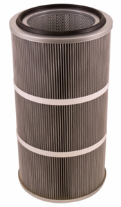 Round 12.8in x 26in Open/Open Dust Collector Cartridge, Spunbond Polyester w/ Aluminum Coating