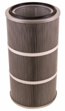 Round 12.8in x 26in Open/Closed Dust Collector Cartridge, Spunbond Polyester w/ Aluminum Coating