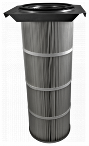 16.5in x 15in Flanged, Round 12.8in x 36in long Dust Collector Cartridge, Spunbond Polyester w/ Aluminum Coating