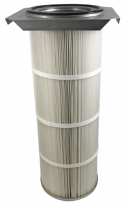 16.5in x 15in Flanged, Round 12.8in x 36in long Dust Collector Cartridge, Spunbond Polyester w/ PTFE Membrane