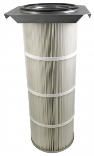 16.5in x 15in Flanged, Round 12.8in x 36in long Dust Collector Cartridge, Spunbond Polyester