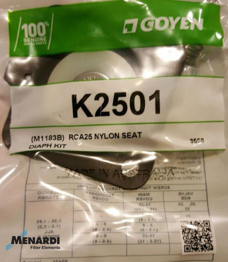 K2501 Goyen Diaphragm Replacement Kit