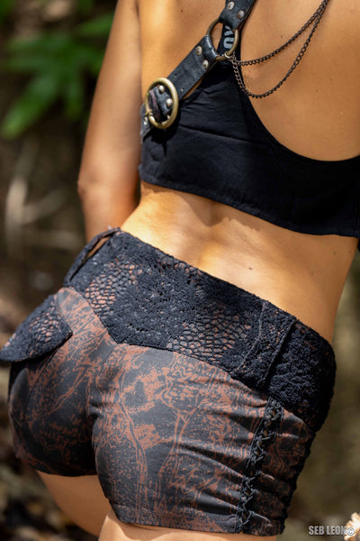 Kali Shorts Brown Reptile
