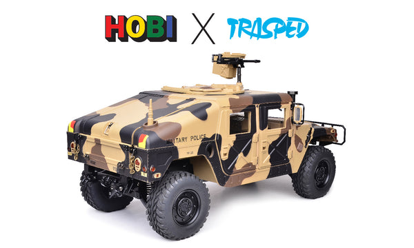 Trasped HG P408 CAMO Humvee Scale 1/10 with Lights and Sound, Inc Battery and charger FREE AU delivery