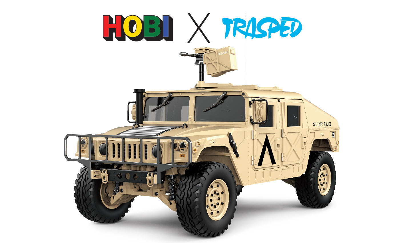 TRASPED HG408 - HMMWV (Humvee) Scale 1/10 with Lights and Sound, Inc Battery and charger