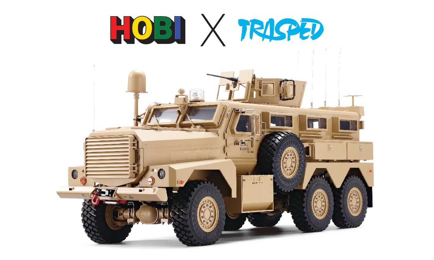 TRASPED HG P602 The Cougar MRAP scale 1/10 with Winch, Smoke, Lights and Sound, Inc Battery and Charger