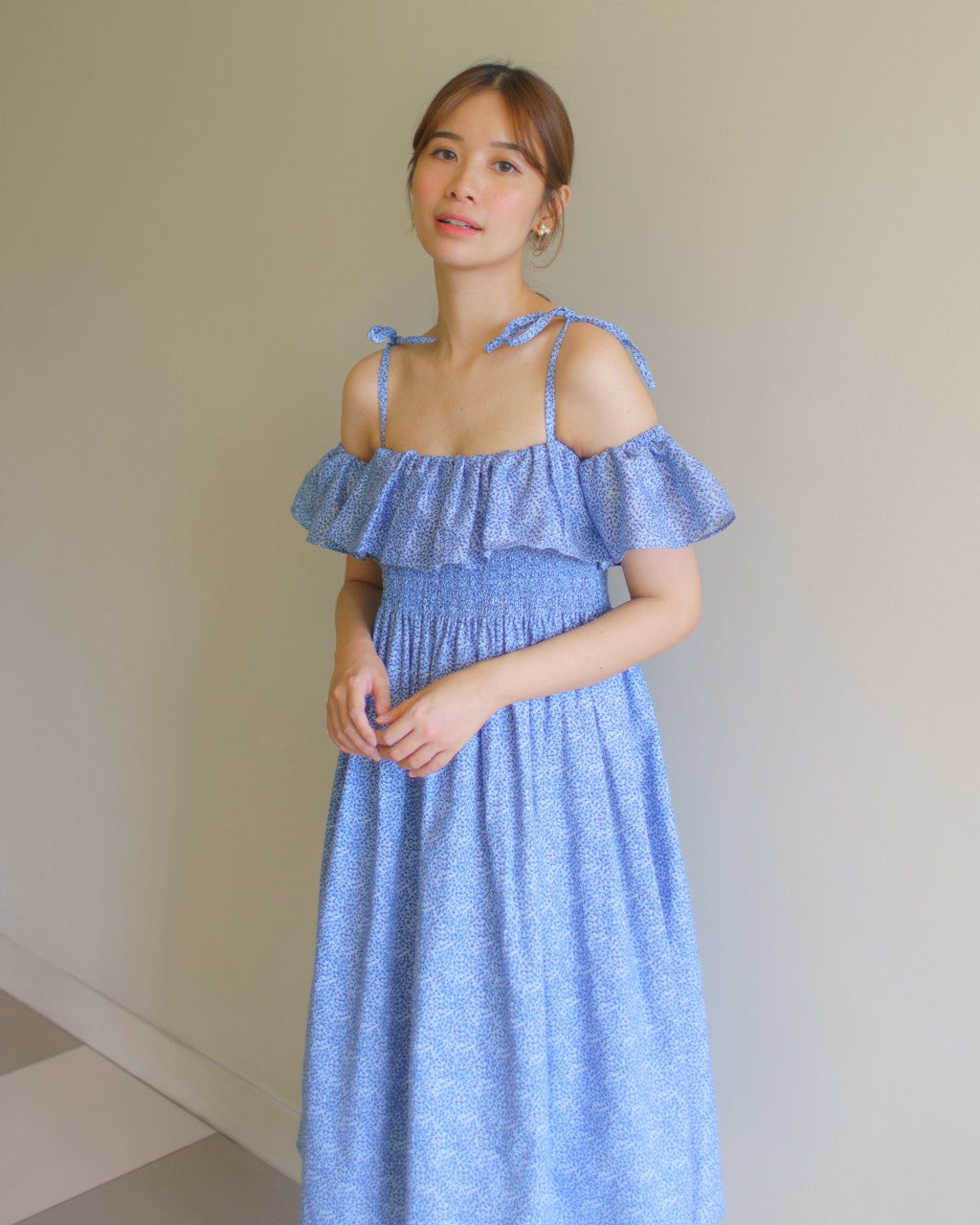 Luna Smocked Nursing Dress
