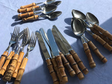 Load image into Gallery viewer, Bamboo Cutlery - 24 Piece Set