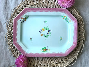 Pink and Green Platter