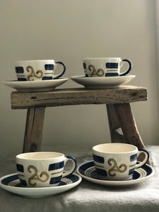 French Breton Coffee Cups