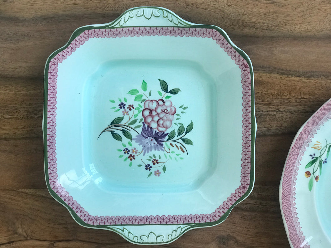 Pink and Green Square Platter