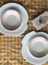 Load image into Gallery viewer, Pair of Red Stripe Bowls