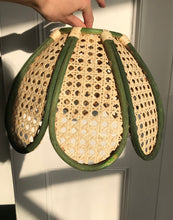 Load image into Gallery viewer, Vintage Green Rattan Shades