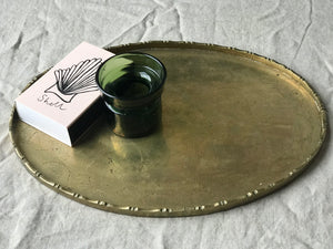 Antique Brass Chinese Serving Tray