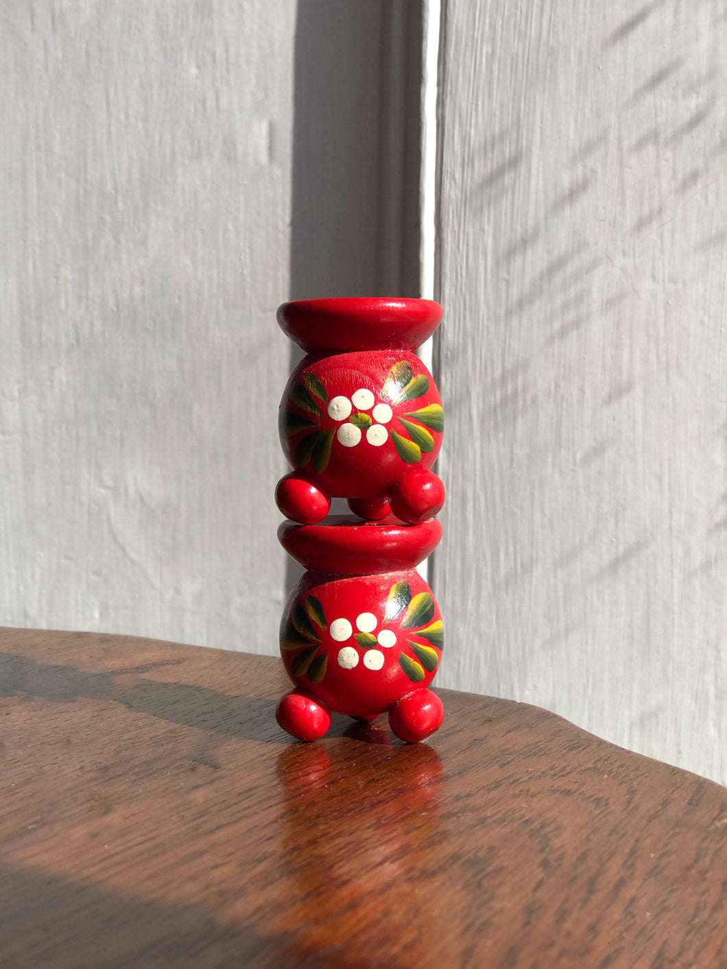 Red Folk Candleholders