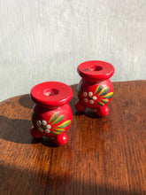 Load image into Gallery viewer, Red Folk Candleholders