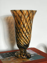 Load image into Gallery viewer, Striped Amber Vase