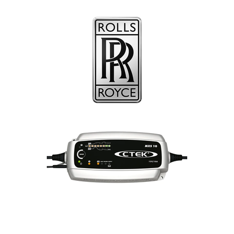 CTEK MXS 10 Rolls Royce Pack With Male 2 Pin Plug