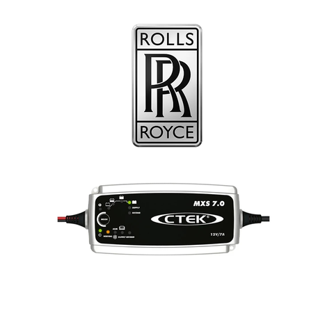 CTEK MXS 7.0 Rolls Royce Pack With Male 2 Pin Plug