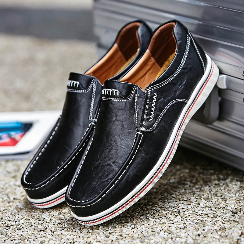 Giuseppe Genuine Leather Slip-on Shoes