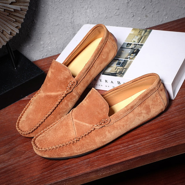 Simone Rossi Suede Moccasins