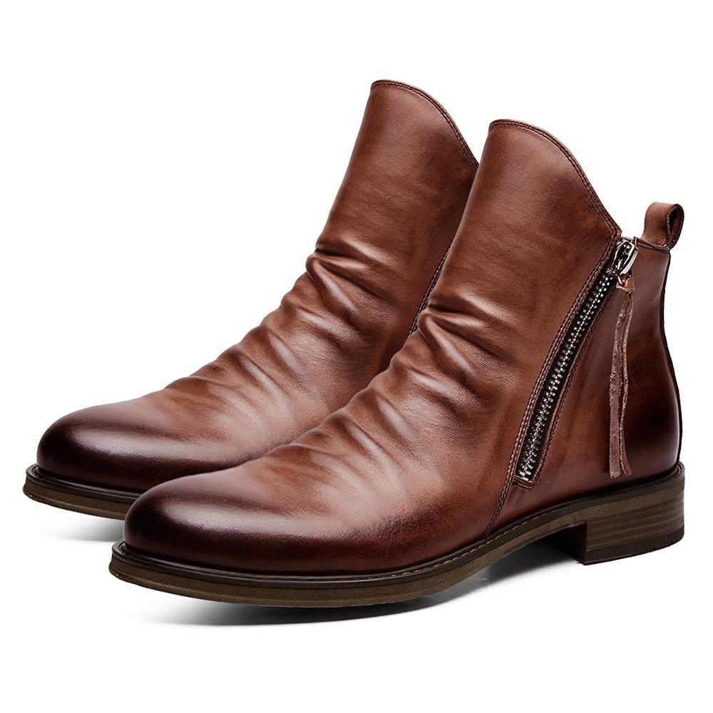 Lovunx Men's Leather Boots