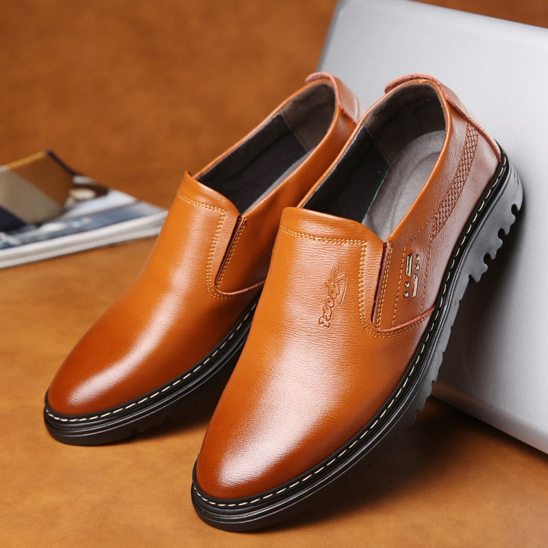 Enzo Rossi Genuine Leather Slip-on Shoes