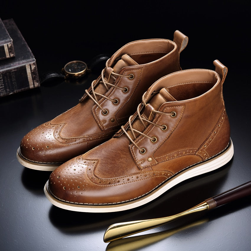 Admiral Genuine Leather Vintage Boots
