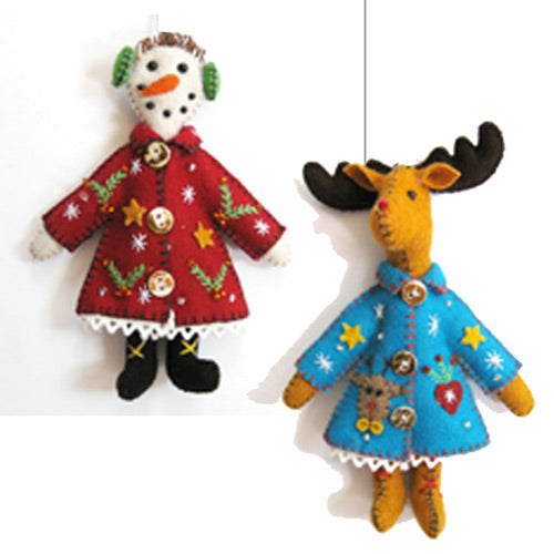 Dressed for Success Felt Ornaments
