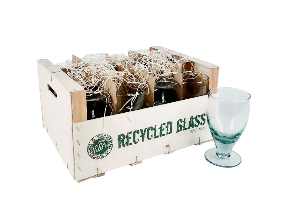 Recycled Glass Stem Glasses