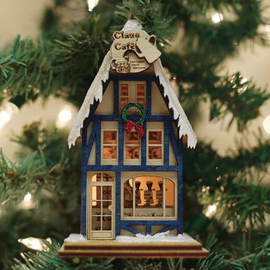 Ginger Cottage Claus Cafe Coffee Shop Ornament
