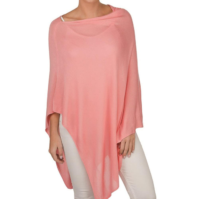 Bamboo Poncho-Pink