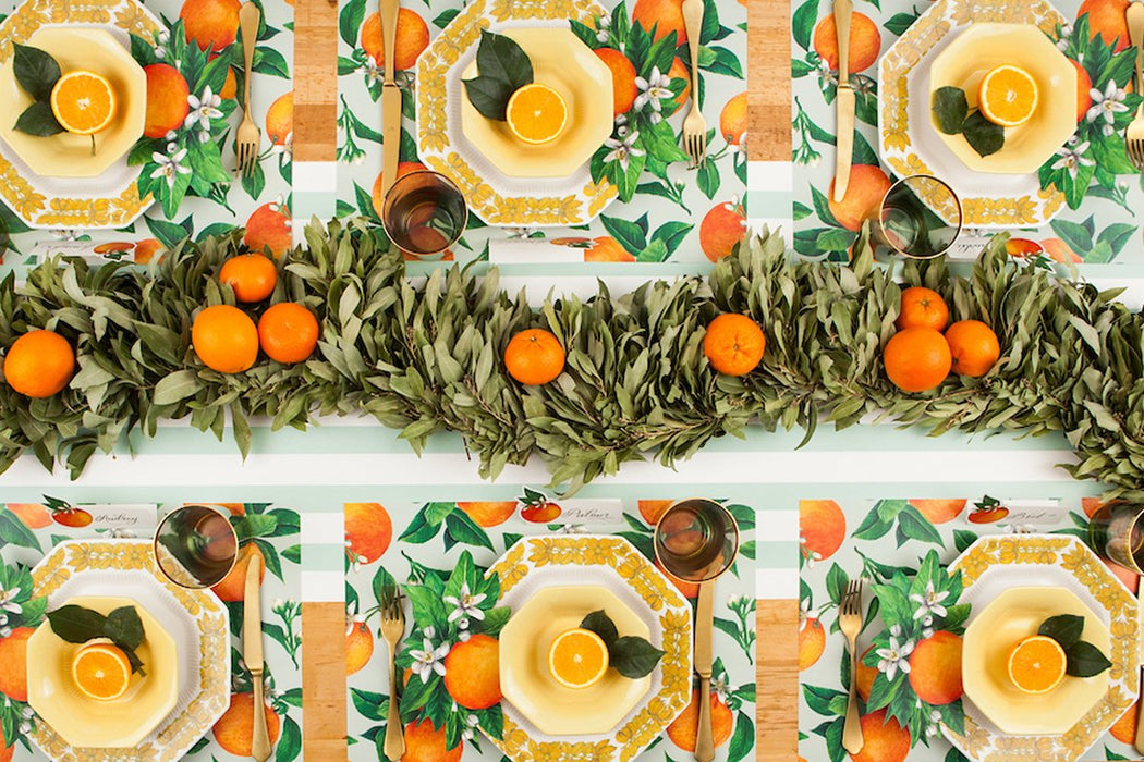 Orange Orchard Paper Placemats