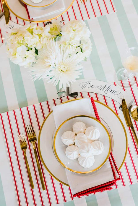 Red Ribbon Paper Placemats