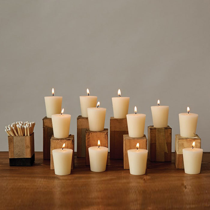 Unscented Votive Candles, Set of 12