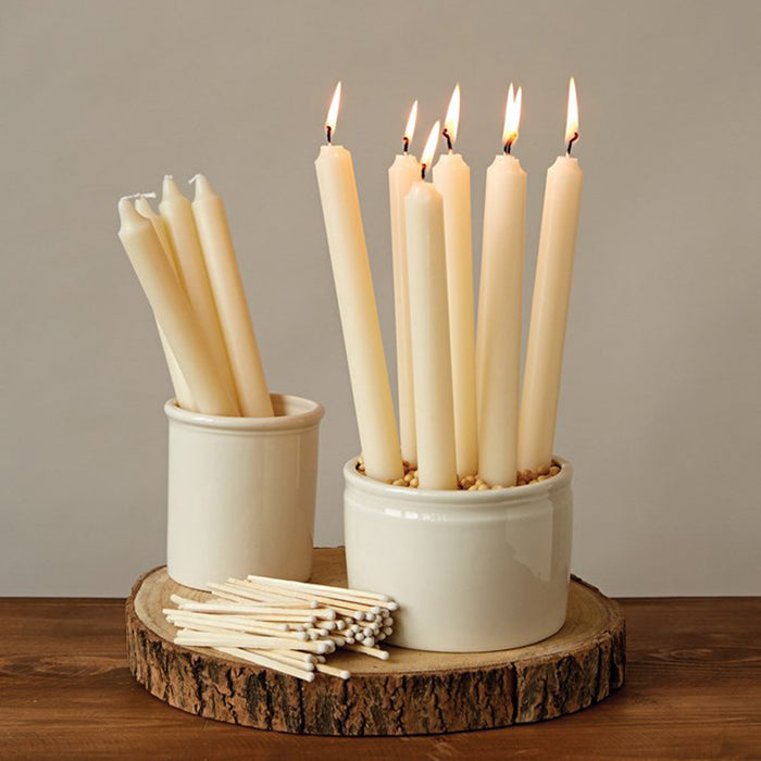 Unscented Taper Candles, Set of 12