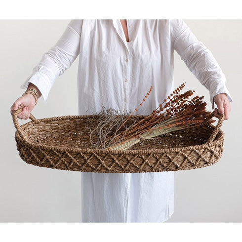 Large Oval Basket with Handles