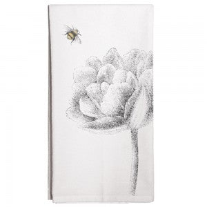 Flower with Bee Towel
