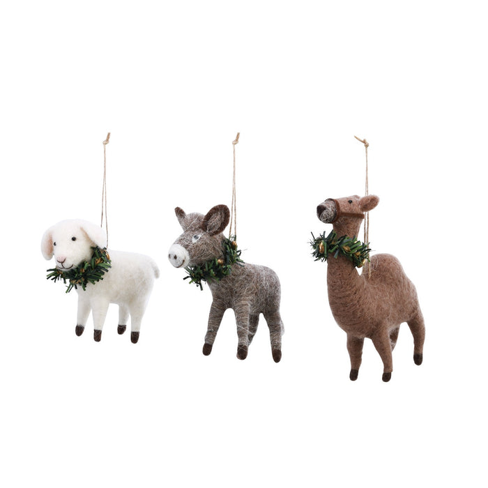 Felt Nativity Animal Ornaments