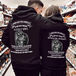 Load image into Gallery viewer, Handsome Husband, Lovely Wife Couple Hoodie, Kangaroo Pocket