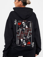 Load image into Gallery viewer, K&Q Poker Couple Hoodie,Kangaroo Pocket