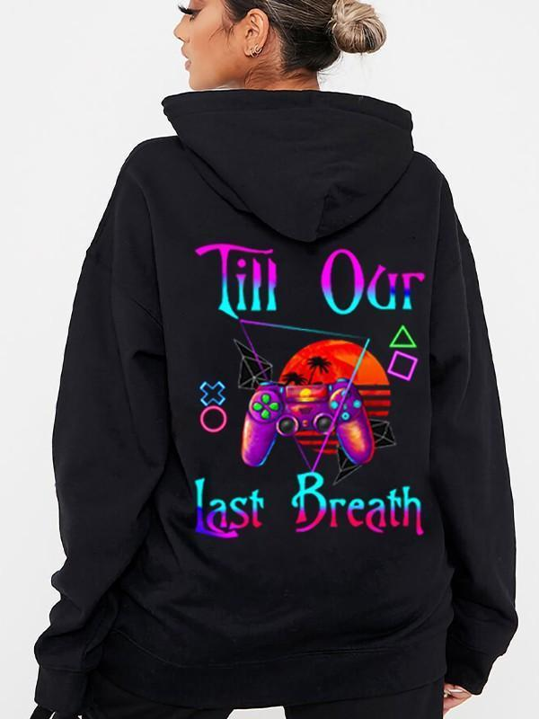 From Our First Kiss/ Till Our Last Breath Gamepad Couple Hoodie,Kangaroo Pocket