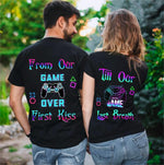 Load image into Gallery viewer, From Our First Kiss Till Our Last Breath Gamepad Couple T-Shirts