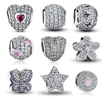 Load image into Gallery viewer, 925 Sterling Silver Dazzling Clear CZ Charm Beads